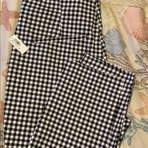 Women's Old Navy black and white dress pants